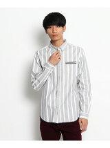 裾パイピングボタンダウンシャツ