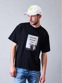 JACKROSE JACKROSE/JE-ミラーシート・ハンド-SSTEE ジャックローズ カットソー Tシャツ ブラック ホワイト【送料無料】