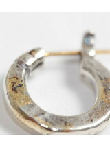 [ピアス]k18goldpost Hammered Hoop Pierce(S)/3mm body w/gold