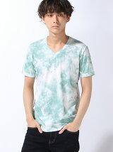 大理石プリントTシャツ