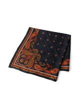リング付き小紋柄スカーフ