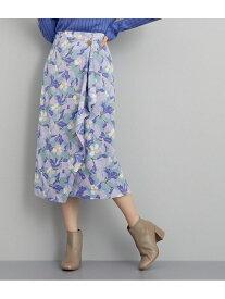 【SALE/60%OFF】ROPE' 【Shirakabalab×CHIONTEC×ROPE'】ハーブプリントラップスカート ロペ スカート スカートその他 ブルー パープル【送料無料】