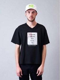 JACKROSE JACKROSE/JEミラーシート・キャンディーSSTEE ジャックローズ カットソー Tシャツ ブラック ホワイト【送料無料】