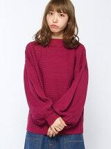 【WEGO】【Dukkah】(L)ハイネックボリュームスリーブセーター