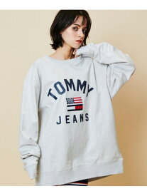 【SALE/40%OFF】TOMMY JEANS (M)TOMMY HILFIGER(トミーヒルフィガー) ボルドロゴクルーネック トミーヒルフィガー カットソー スウェット グレー ネイビー ホワイト【送料無料】