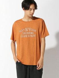 【SALE/60%OFF】nano・universe Selected :ヴィンテージオーバーダイカレッジTSS ナノユニバース カットソー Tシャツ オレンジ グリーン パープル ブルー