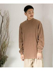 SENSE OF PLACE 【別注】GoodwearワッフルモックTシャツ センス オブ プレイス カットソー Tシャツ ブラウン ホワイト ベージュ【送料無料】