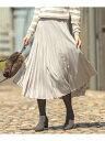 【SALE/30%OFF】J.PRESS ファインプリーツスカート ジェイプレス スカート スカートその他 グレー ベージュ グリーン…
