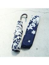 ★ビコーズ/リーフ柄折り畳み傘
