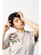 花刺繍クルーネックTEEMOOK番号93154