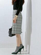 UBCE チェックタイトスカート