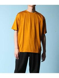 【SALE/60%OFF】ADAM ET ROPE' Ry/cブライト天竺クルーネックTシャツ アダムエロペ カットソー カットソーその他 イエロー ホワイト ネイビー