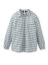 コットンリネンリラックスチェックシャツ