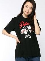 X-girl x Delicious Pizza S/S TEE
