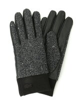 (M)ネップツイードコンビ手袋