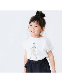 【SALE/30%OFF】COMME CA ISM ガールプリント 袖リボンTシャツ コムサイズム カットソー【RBA_S】【RBA_E】