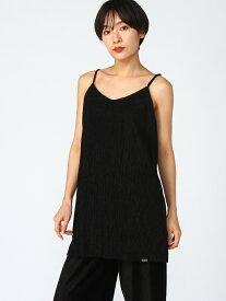 X-girl PLEATED CAMI DRESS エックスガール ワンピース キャミワンピース ブラック グリーン シルバー【送料無料】