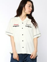 X-girl x Delicious Pizza BOWLING SHIRT