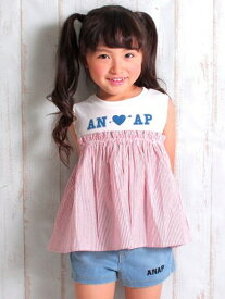 【SALE/50%OFF】ANAPKIDSストライプドッキングトップス アナップ カットソー【RBA_S】【RBA_E】