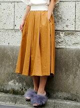 Wボックスタックフレアスカート