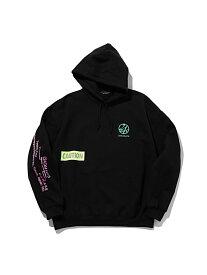 24karats (M)Mill Spec Logo Hoodie バーチカルガレージ カットソー パーカー ブラック ピンク【送料無料】