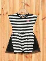 STRIPED  TULLE  DRESS/ワンピース