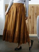 【Market】スカラップレースマキシスカート