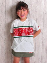 ANAPKIDSペイズリープリントTシャツ