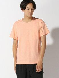 【SALE/50%OFF】nano・universe Selected AntiSoaked杢クルーネックTシャツ ナノユニバース カットソー Tシャツ オレンジ グレー ピンク ホワイト