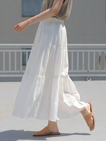 【SALE/57%OFF】AMERICAN HOLIC SELECT ティアードソフトギャザースカート アメリカン ホリック スカート フレアスカート ホワイト ブラック ブラウン ブルー レッド