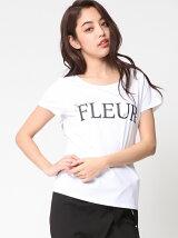FLEURロゴビジューTシャツ