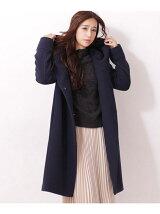 タック衿コート