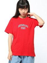 【BROWNY】(L)シンプルカレッジロゴプリントTシャツ