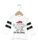 天竺eくんベースボール長袖Tシャツ