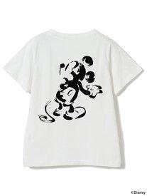 【SALE/50%OFF】B:MING by BEAMS / Disney ミッキーマウス フロッキーTシャツ ビーミング ライフストア バイ ビームス カットソー【RBA_S】【RBA_E】