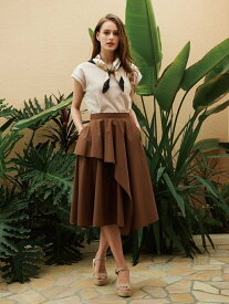【SALE/50%OFF】Noela アシメヘムサマースカート ノエラ スカート ロングスカート ブラウン イエロー ブルー パープル【送料無料】