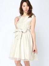 シャンタンバックレースドレス