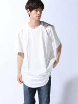 (M)ZIP FIVE 製品洗い加工ロング丈Tシャツ