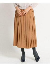 SunaUna 【洗える】ボックスプリーツミディスカート スーナウーナ スカート スカートその他 ブラウン レッド ネイビー【送料無料】