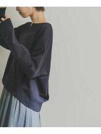 URBAN RESEARCH ポンチタックコクーンプルオーバー アーバンリサーチ カットソー Tシャツ ネイビー ホワイト ブラウン【送料無料】