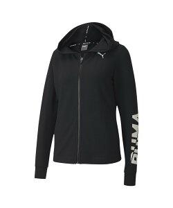 【SALE/50%OFF】PUMA モダン スポーツ ロゴ ウィメンズ フーデッド スウェット ジャケット プーマ カットソー スウェット ブラック