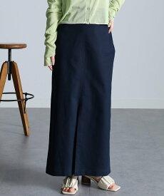 Ranan チノライクロングタイトスカート ラナン スカート タイトスカート ネイビー カーキ グリーン ブラック ベージュ【送料無料】