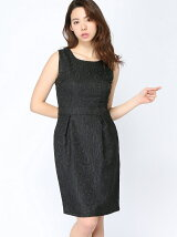 タイトジャガードドレス