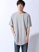(M)ZIP FIVE 製品洗い加工ロング丈Tシャツ(2)