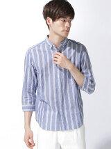 綿麻ローン7分袖BDシャツ
