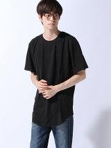 (M)ZIP FIVE 製品洗い加工ロング丈Tシャツ(3)