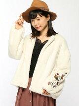 袖刺繍ボリュームスリーブコート