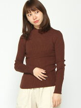 BROWNY STANDARD/(L)リブハイネックセーター