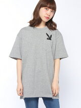 X-girl x PLAY BOY POCKET S/S MENS TEE