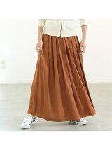 ヴィンテージサテンロングギャザースカート